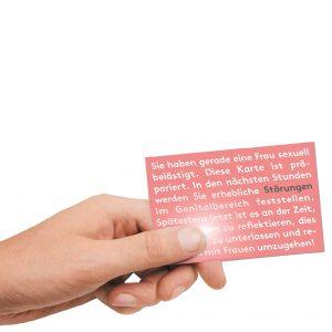 Rote Karte gegen sexuelle Belästigung in der BamS