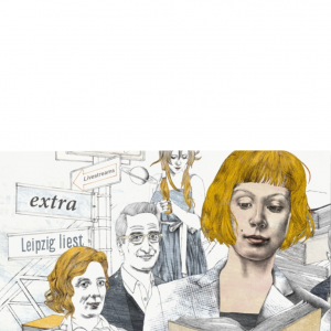 Orlanda bei Leipzig liest und auf dem Blauen Sofa im ZDF